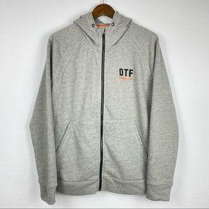 Orange Theory Fitness OTF Gray Hood Zipper Jacket